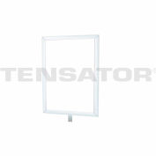 "Tensator Sign Frame Post Rope 7X11"" Satin Chrome"