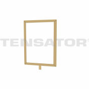 "Tensator Sign Frame Post Rope 7X11"" Polished Brass"