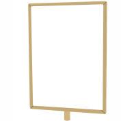 "Tensabarrier Sign Frame Post Rope 8.5X11"" Polished Brass"