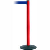 "Tensabarrier Popular 38""H Red Post 7.5'L Blue Retractable Belt"