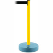Tensabarrier Crowd Control, Queue Stanchion Retractable Barrier Plastic Post, Yllw W/ 7.5' Blk Belt