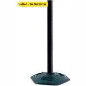 Tensabarrier Black Heavy Duty Post 7.5'L BLK/YLW Caution-Do Not Enter Retractable Belt Barrier