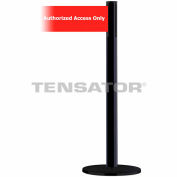 """Wide Webbing Tensabarrier Red Belt """"Authorized Access Only"""" - Black"""