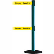 "Dual Line Tensabarrier Green - Yellow Belt ""Danger Keep Out"""