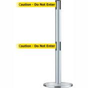 """Dual Line Tensabarrier Satin SS - Yellow Belt """"Caution Do Not Enter"""""""