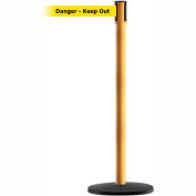 "Slimline Tensabarrier Yellow Belt ""Danger Keep Out"" - Yellow"
