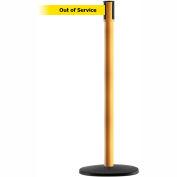 "Slimline Tensabarrier Yellow Belt ""Out of Service"" - Yellow"