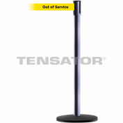 Tensabarrier Hammer Gray Slimline 7.5'L BLK/YLW Out of Service Retractable Belt Barrier