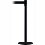 Tensabarrier Black Slimline 7.5'L Black Retractable Belt Barrier