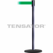 Slimline Tensabarrier Standard - Green Belt - Hammer Gray