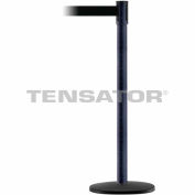 Tensabarrier BLK Wrinkle Slimline 7.5'L Black Retractable Belt Barrier