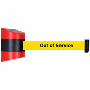 """Wall Mount Unit Black/Red - 30' """"Out Of Service"""" Yellow Belt"""