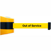 """Wall Mount Unit Black/Yellow - 30' """"Out Of Service"""" Yellow Belt"""
