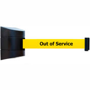 """Wall Mount Unit Black/Black - 24' """"Out Of Service"""" Yellow Belt"""