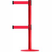 Tensabarrier Red Advance Univ Dual Line 7.5'L Red Retractable Belt Barrier