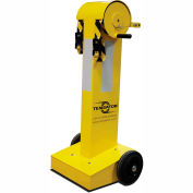 Tensabarrier Safety Crowd Control, Queue Barrier With 75' Black/Yellow Retractable Belt