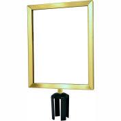 """Tensabarrier Sign Frame Post Stanchion 11X14"""" Satin Brass"""