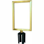 """Tensabarrier Sign Frame Post Stanchion 7X11"""" Satin Brass"""