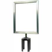 "Tensabarrier® Steel Sign Frame, 8-1/2""Wx11""H, Satin Chrome"