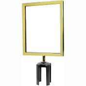 Standard Sign Frame 8-1/2 x 11 - Polished Brass