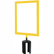 "Tensabarrier Yellow Heavy Duty 8.5""x11"" Sign Frame"