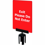"""Tensabarrier Red 7""""x11"""" 1/4"""" Thick Acrylic Sign - Exit Please Do Not Enter"""