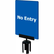 """Tensabarrier Blue 7""""x11"""" 1/4"""" Thick Acrylic Sign - No Entry"""