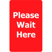 """Acrylic Sign - Red """"Please Wait Here"""""""