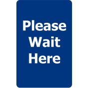 "Acrylic Sign - Blue ""Please Wait Here"""