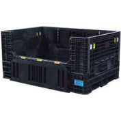 "ORBIS Heavy-Duty BulkPak HDR7048-34 Container, 70""L x 48""W x 34""H, 1500 Lbs. Capacity Black"