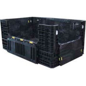 "ORBIS Heavy-Duty BulkPak HDR7848-34 Container, 78""L x 48""W x 34""H, 1500 Lbs. Capacity Black"