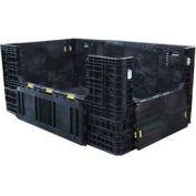 "ORBIS Heavy-Duty BulkPak HDR7848-34 Container, 78""L x 48""W x 34""H, 1500 Lbs. Capacity Black"