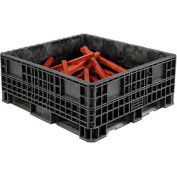 """Orbis Heavy-Duty BulkPak Container HDRS4548-19 - 48""""L x 45""""W x 19-5/16""""H - Fixed Wall Black"""