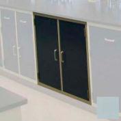 """Lab Base Cabinet 47""""W x 22-1/2""""D x 35-3/4""""H, 2 Cupboard Doors W/1 Shelf, Model Gray"""
