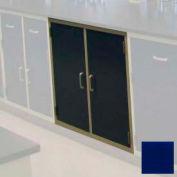"""Lab Base Cabinet 47""""W x 22-1/2""""D x 35-3/4""""H, 2 Cupboard Doors W/1 Shelf, Navy Blue"""