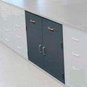 "Lab Base Cabinet 47""W x 22-1/2""D x 35-3/4""H, 2 Drawers, 2 Cupboard Doors, W/1 Shelf, Stone Gray"