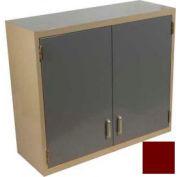"Lab Wall Cabinet 35""W x 13""D x 30""H, 2 Steel Doors, 2 Adj Shelves, Burgundy"