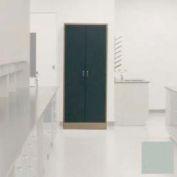 "Lab Wall Freestanding Cabinet 35""W x 18""D x 84-1/4""H, 2 Steel Doors, 5 Adj Shelves, Stone Gray"