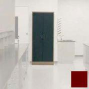 "Lab Wall Freestanding Cabinet 35""W x 18""D x 84-1/4""H, 2 Steel Doors, 5 Adj Shelves, Burgundy"