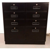 "Fenco Teller Pedestal Cabinet S-213-I - 6 Drawers 2 Legal Drawers 37""W x 19""D x 38-1/2""H Gray"