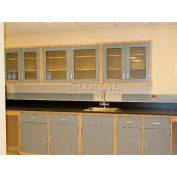 "Lab Design Sink Bench 3'-3/4""H X 30""D X 107""W, Stone Gray"