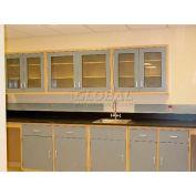 """Lab Design Sink Bench 3'-3/4""""H X 30""""D X 107""""W, Burgundy"""