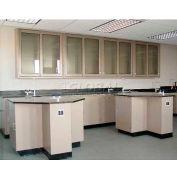 "Lab Design Student Pod Bench 71""W X 71""D X 3'-3/4""H, Stone Gray"