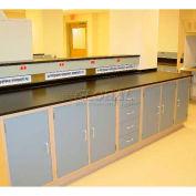 """Lab Design Workbench 16'4""""W X 30""""D X 3'-3/4""""H, Navy Blue"""