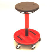 "ShopSol Scooter Stool with Removable Tray - Height Adjustable 19-1/2"" - 26- 3/4"""