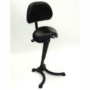 ShopSol Sit Stand Chair with Backrest - Vinyl - Black