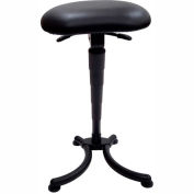 ShopSol Big and Tall Sit Stand Stool - Vinyl - Black
