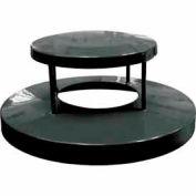 32 Gallon Dome Bonnet Lid - Black