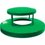 32 Gallon Dome Bonnet Lid - Green