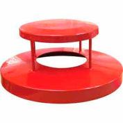 32 Gallon Dome Bonnet Lid - Red